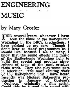 'Engineering Music' by Mary Crozier
