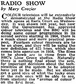 1962 Guardian clipping about the Earls Court Radio Show