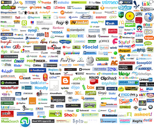 Web 2.0 logos by Soshable
