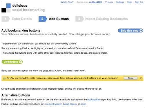 Delicious tools page