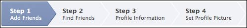 Facebook set-up steps - including adding friends