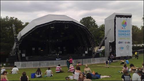 Main stage at 2009 Summer Sundae