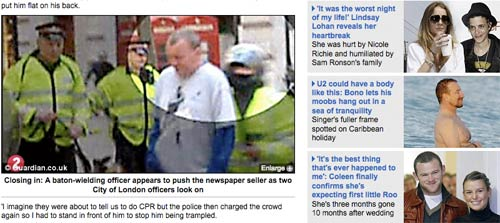 Daily Mail online coverage