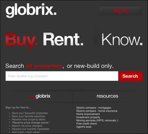 Globrix homepage