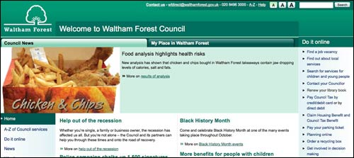 Waltham Forest website homepage