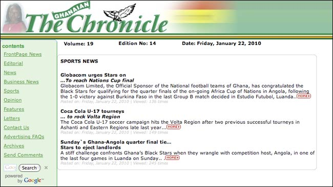 The Ghanaian Chronicle online