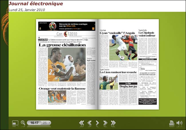 Electronic edition of the Fraternité Matin