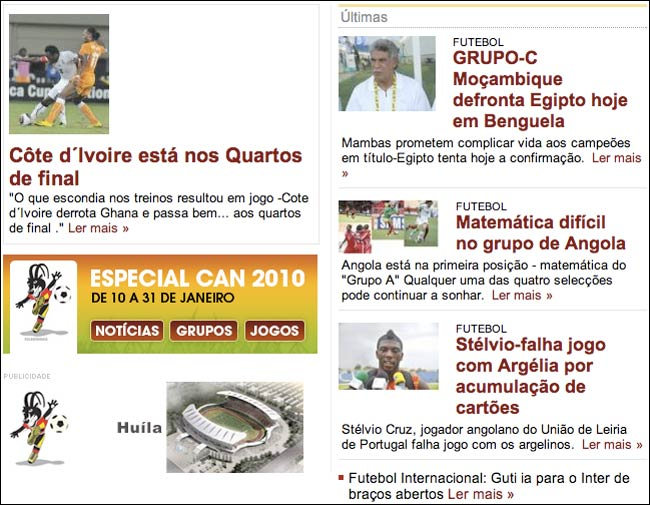 Jornal de Sportos CAN coverage
