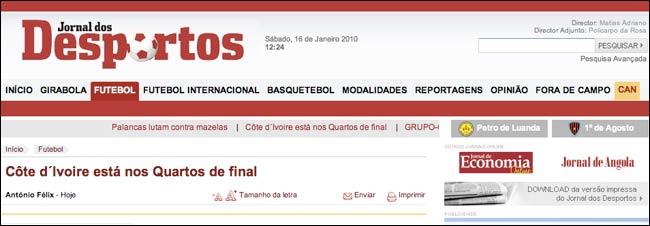 Jornal de Sportos masthead