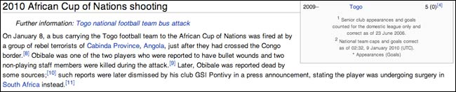 Wikipedia entry on Togo's Obilale