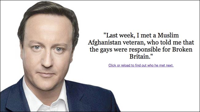David Cameron anecdote generator