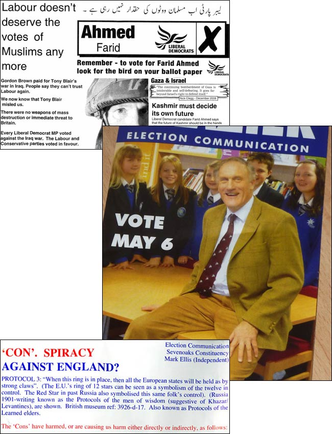 Ill-advised election leaflets