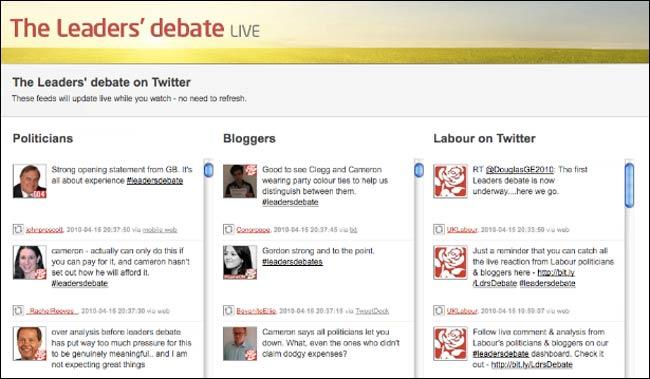 Labour Debate Twitterfall