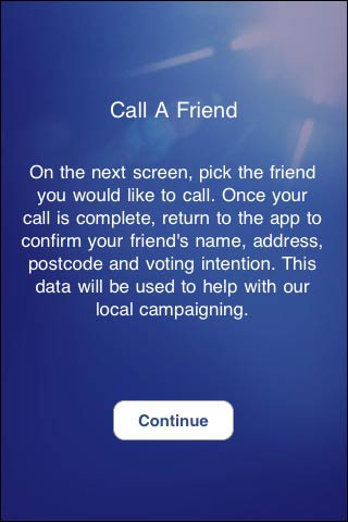 Conservatives 'Call a friend' feature