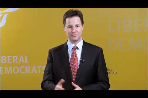 Nick Clegg video in the Liberal Democrat iPhone app