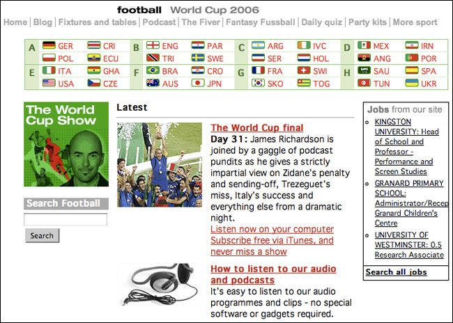 2006 Guardian World Cup front page