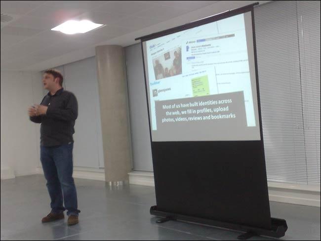 Glenn Jones presenting at London IA