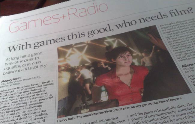 Games and Radio coverage in the New Observer