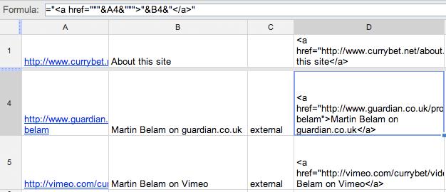 Example spreadsheet image