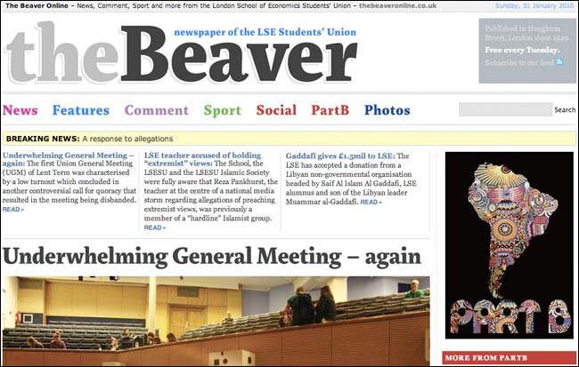 The Beaver Online from the LSE Student Union
