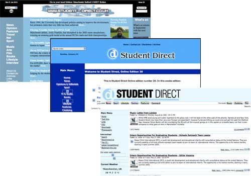 Archived Student Direct sites from Manchester