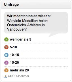 Kleine Zeitung Austiran medal prediction vote