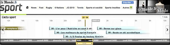 Le Monde's live events diary