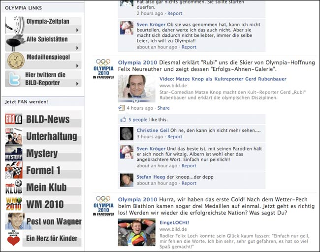 Evidence of Bild involvement in the group is lower down the page