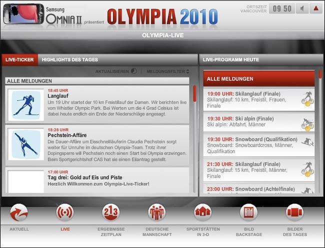 Bild Olympialive interactive