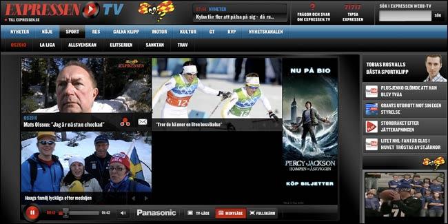 Sweden's Expressen TV site