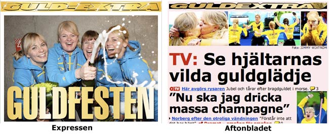 Guldextra on Expressen and Aftonbladet in Sweden