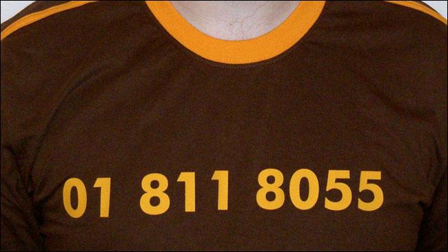 Dan Catt's 01 811 8055 t-shirt