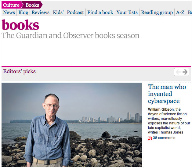 Guardian Books website