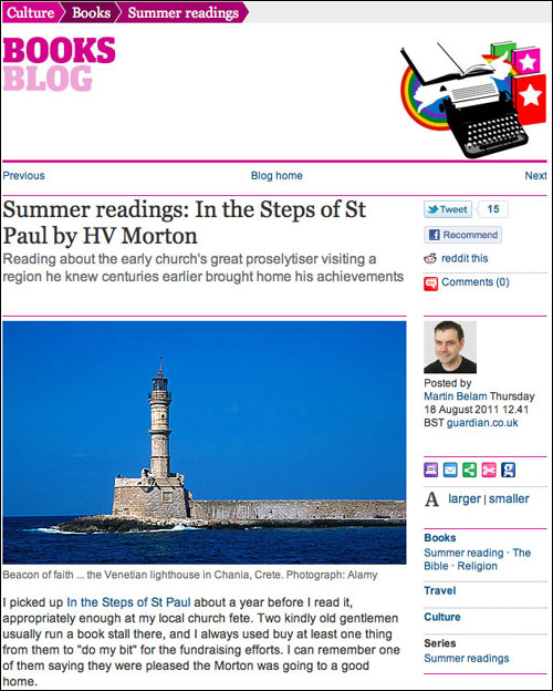 My 'Summer Readings' blog post on the Guardian books site
