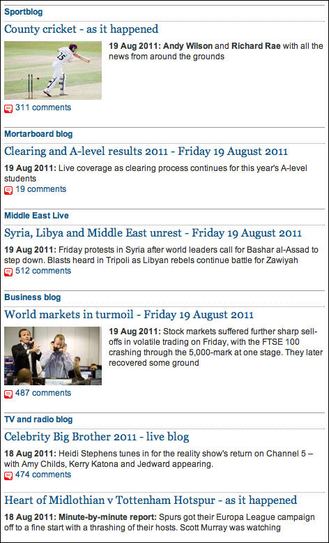 Guardian Liveblogs