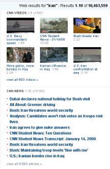 CNN results panel