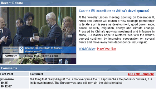 EU Comment debate on Africa