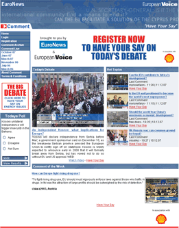 EU Comment homepage