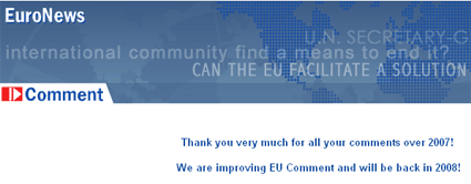 EU Comment was shut at the beginning of 2008