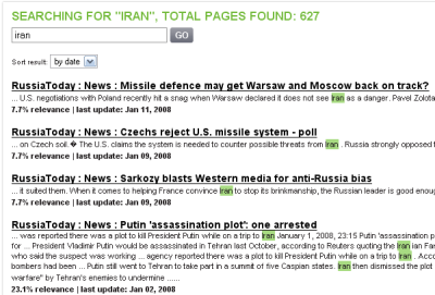 Russia Today search results