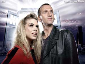 Christopher Eccleston and Billie Piper as Doctor Who and Rose