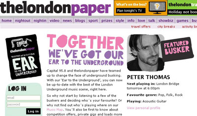 The London Paper busking site