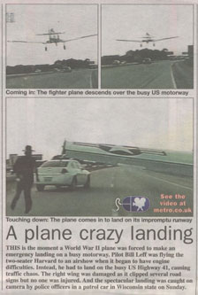 Metro plane landing video article