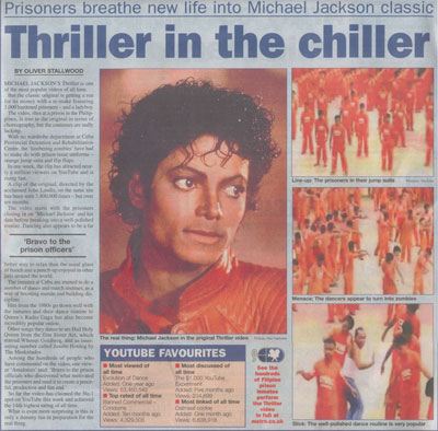 Metro's Thriller in the Chiller article