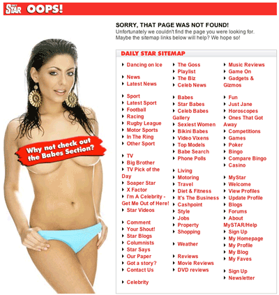 Daily Star 404 page