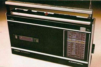 A Grundig cassette/radio player