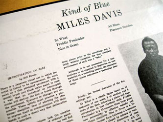 A modern replica of 'Kind of blue'