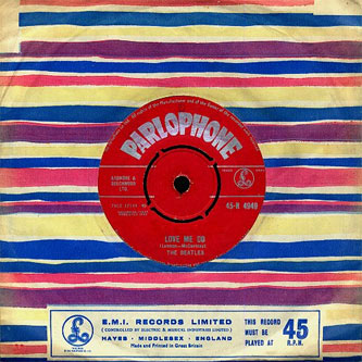 Beatles Love Me Do red label single