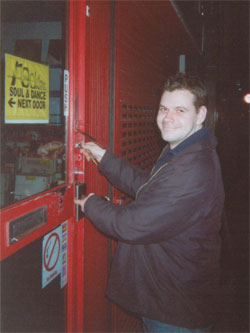 Locking up Berwick Street for the last time