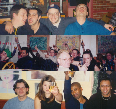 Various Reckless staff parties during the 90s